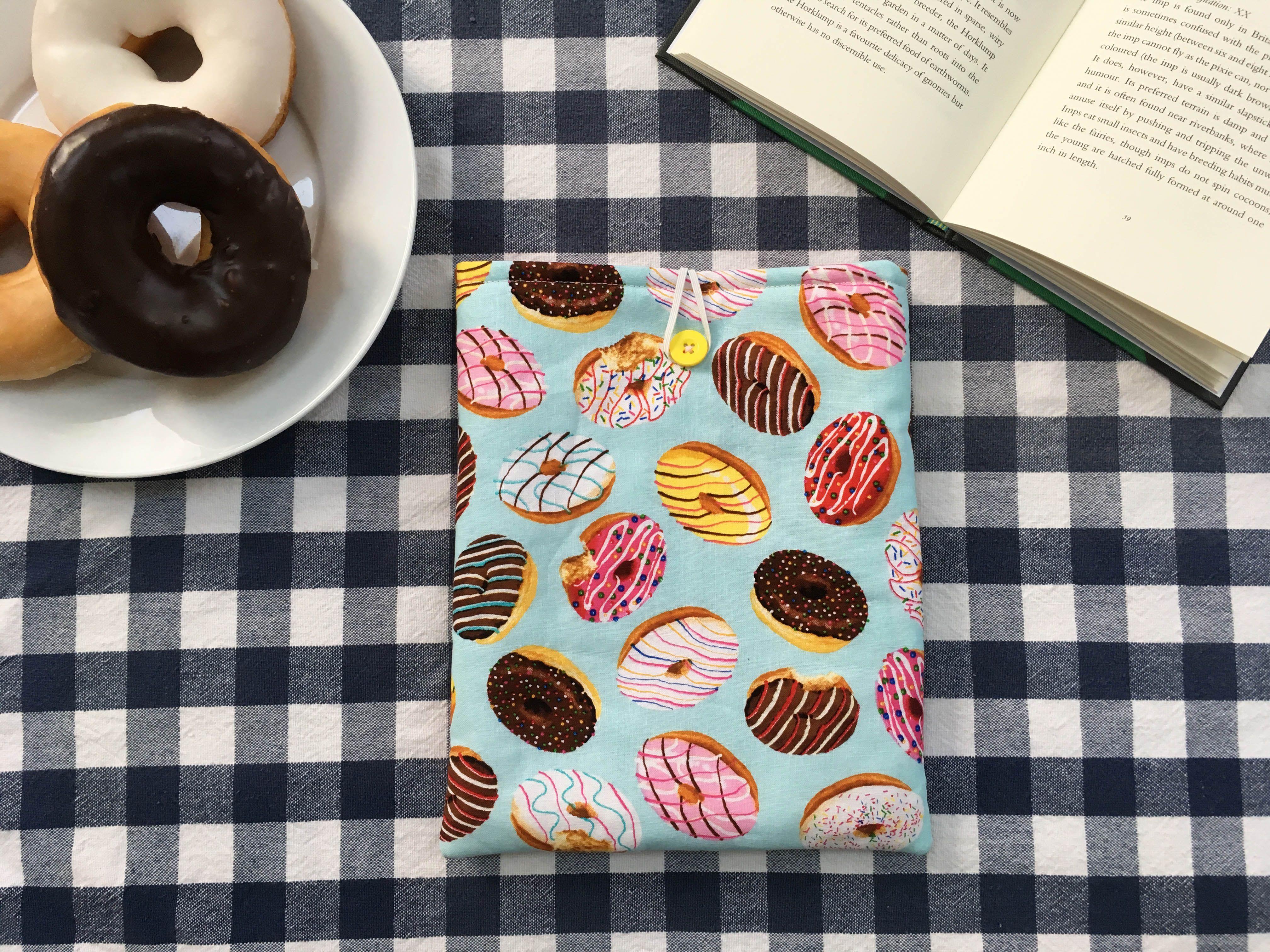 Doughnut Book Sleeve Handmade Book Cover on Etsy! Sew