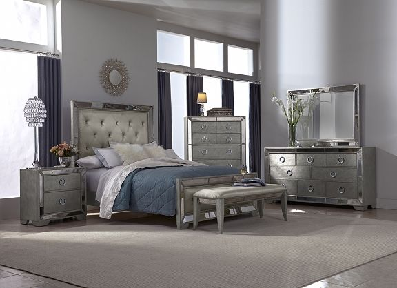 Angelina Bedroom Collection | Furniture.com-Queen Bed $999.99 | Beds ...
