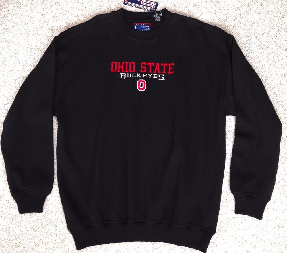 Men Xl New Old Stock Vtg Ohio State Buckeyes Crewneck Sweatshirt