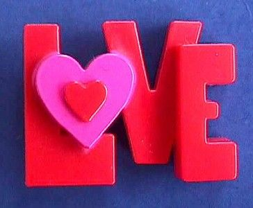 Rare Hallmark Pin Valentines Day Word Love Block Letters Heart