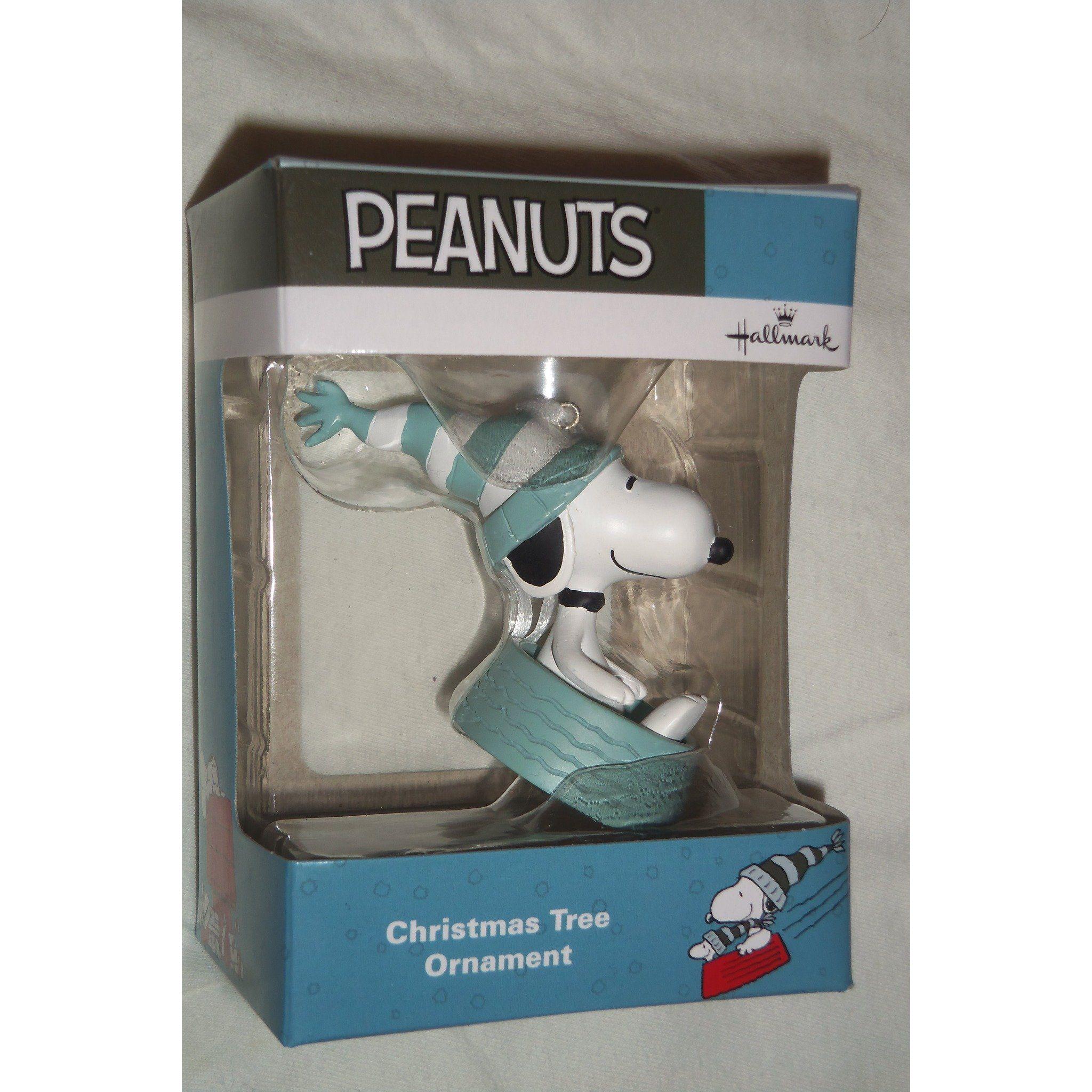Snoopy Christmas Tree Topper: Hallmark Peanuts Winter Fun Snoopy Sledding In Bowl