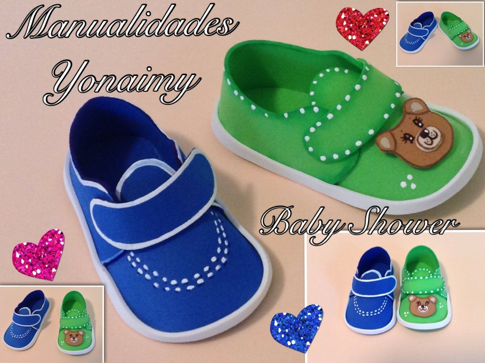 bc20adc9 ZAPATITOS DE NIÑO EN FOAMY O GOMA EVA PARA BABY SHOWER . | foamy ...