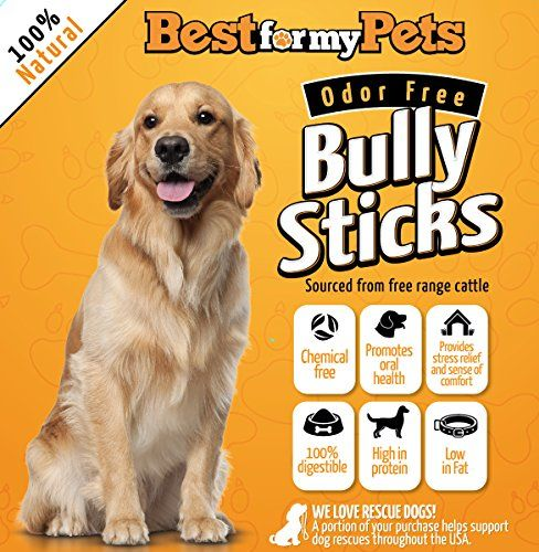 Dog Rawhide Treats Best For My Pets Odor Free 6inch Bully Sticks 8 Oz Pack You Can Get More Details By Clicking On The Image This Is An Amaz With