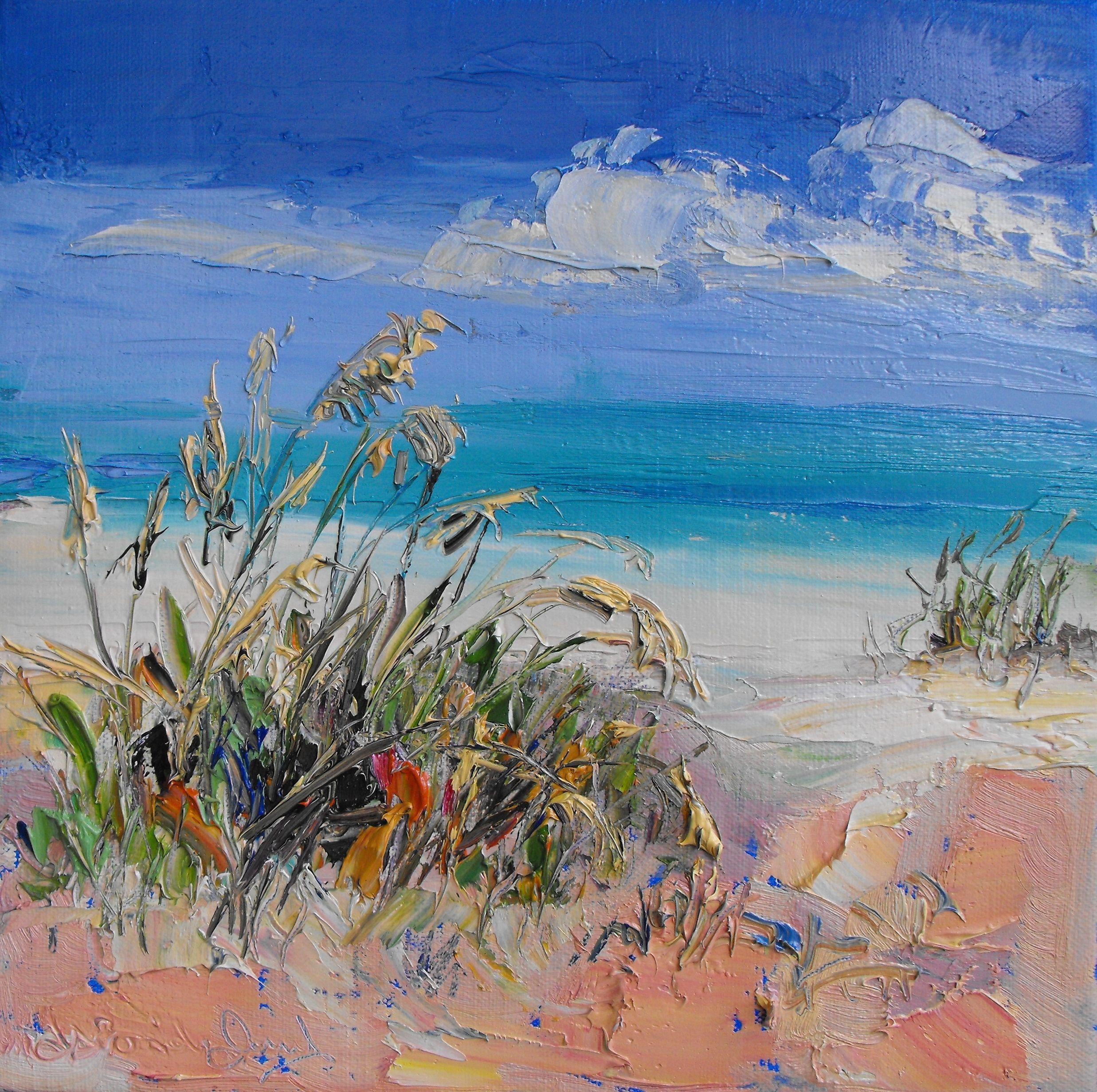 Judith Brigland Grasses In The Sand Gulf Of Mexico Malarstwo
