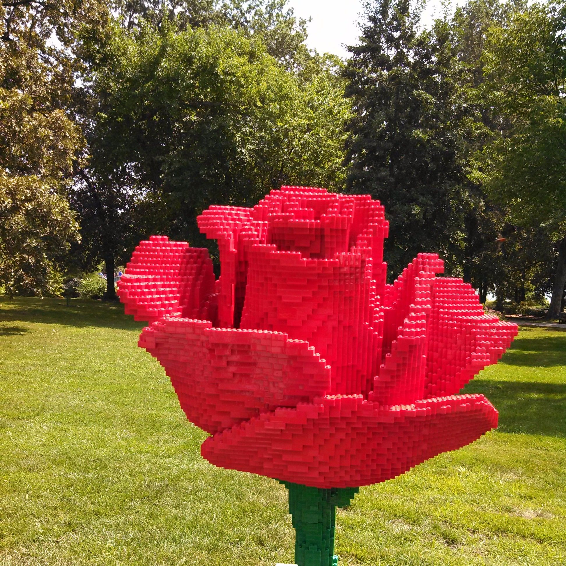 Rose Garden Creations: LEGO Rose By Sean Kenney At Powell Gardens