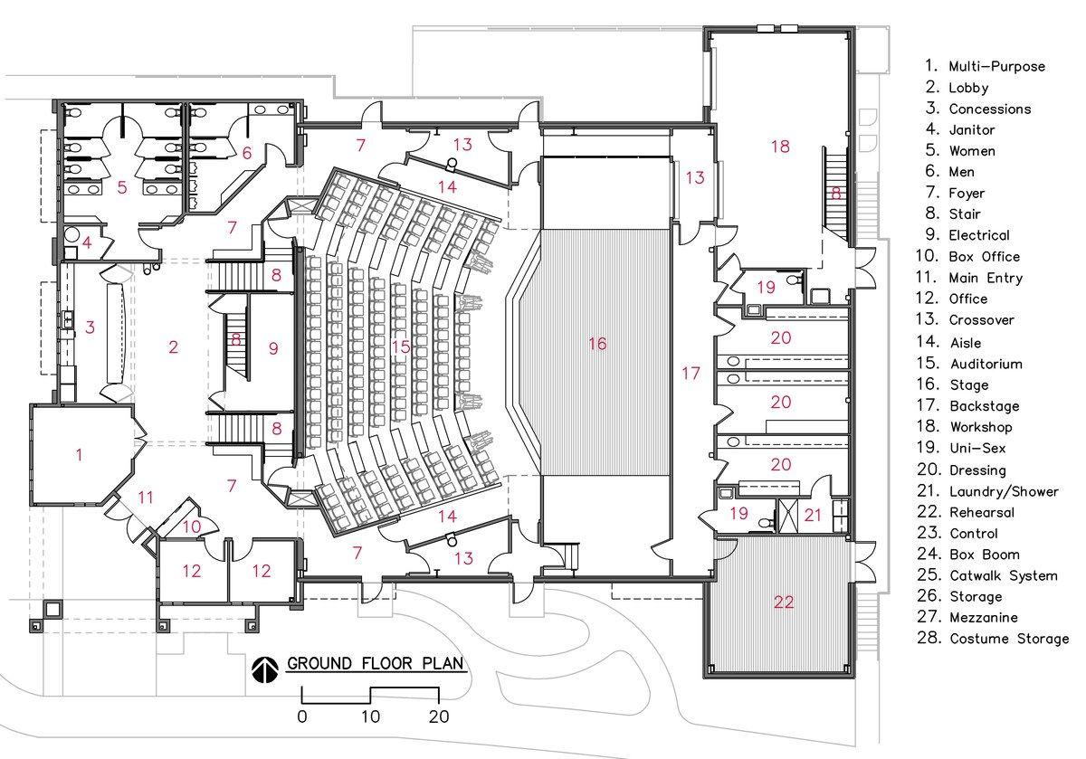 Camelot Theatre Bruce Richey Architect Aia Leed Ap Bd C Archinect Auditorium Design Auditorium Architecture Theatre Architecture