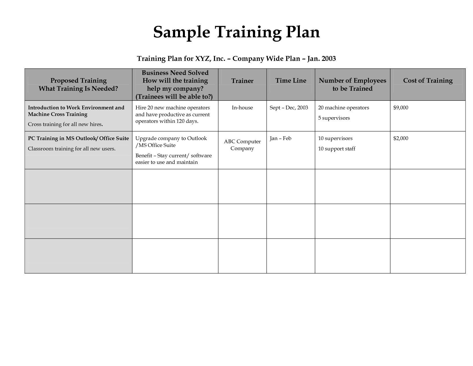 Related image Employee training, Workout plan template