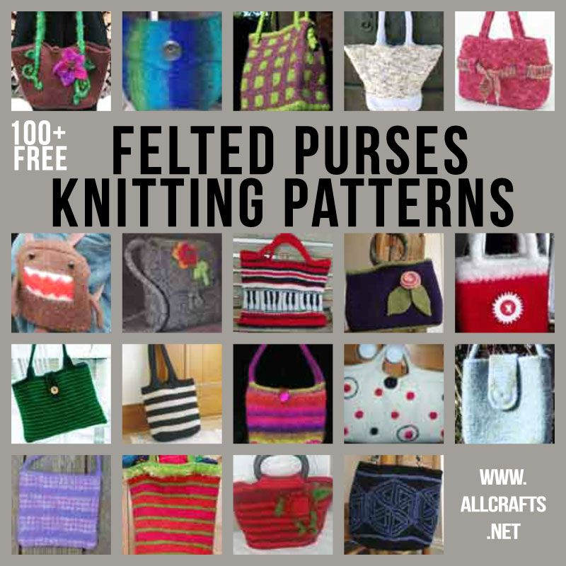 100+ Free Felted Purses Knitting Patterns | Crafts | Pinterest | 100 ...