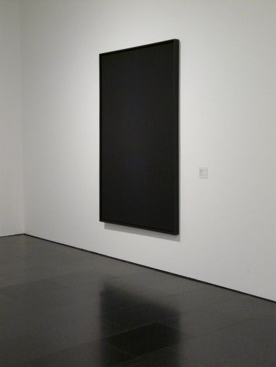 One of Ad Reinhardt's Black Paintings. One of my favorite artists.