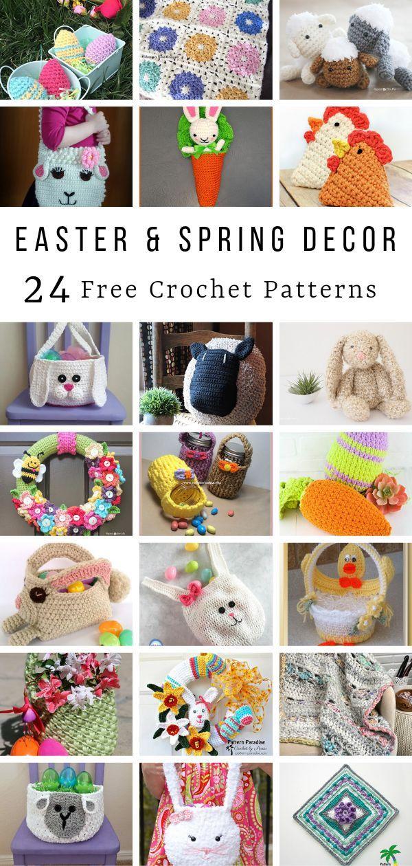 Crochet Finds - Easter and Spring Home Decor #eastercrochetpatterns