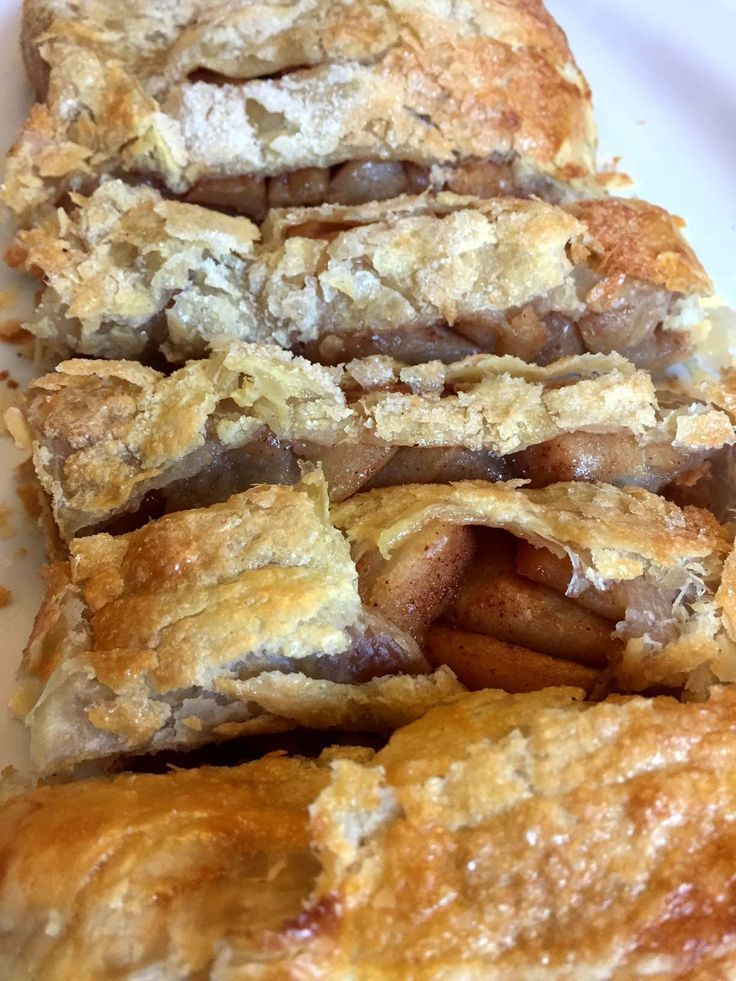 Easy Apple Strudel Recipe Made With Frozen Puff Pastry Dough