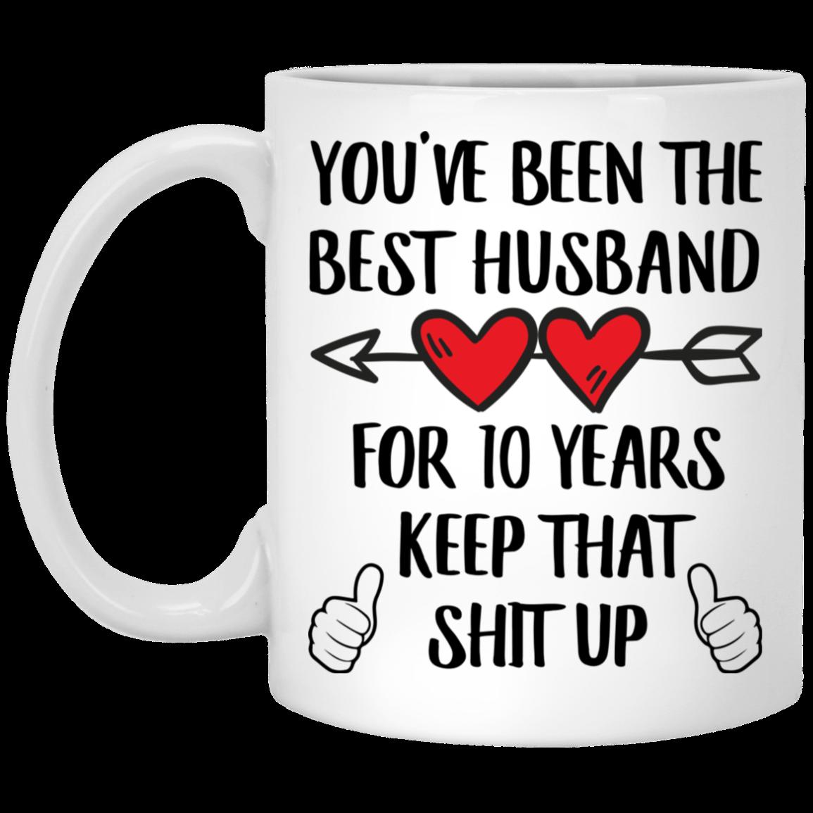 10 Year Anniversary Gift For Him 10th Coffee Mug