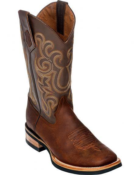 ed7b60b2d8 Ferrini Men's Maverick Cowboy Boots - Square Toe Bottes, Santiag, Hommes  Chaussures Bottes,