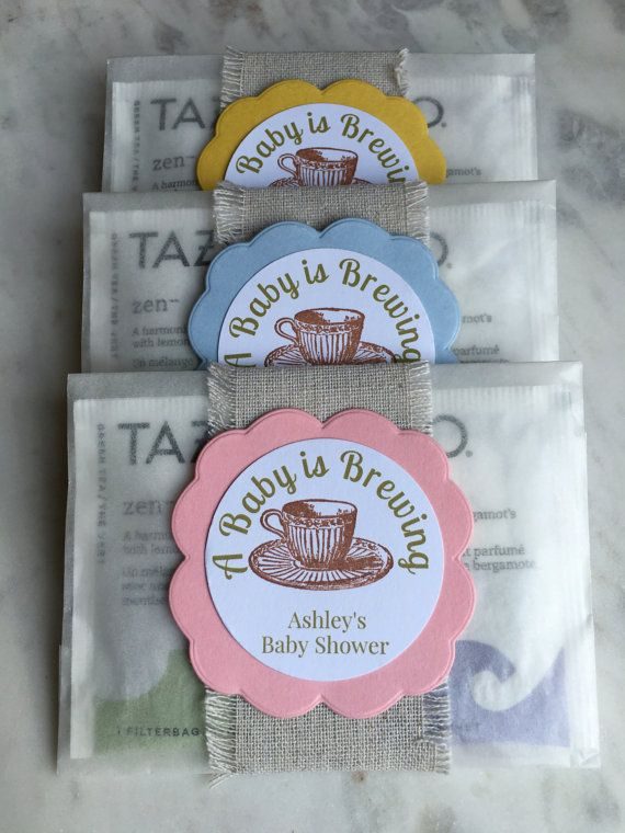 8 Baby Shower Favors Sprinkle Tea Bag A Is Brewing Glassine Bags
