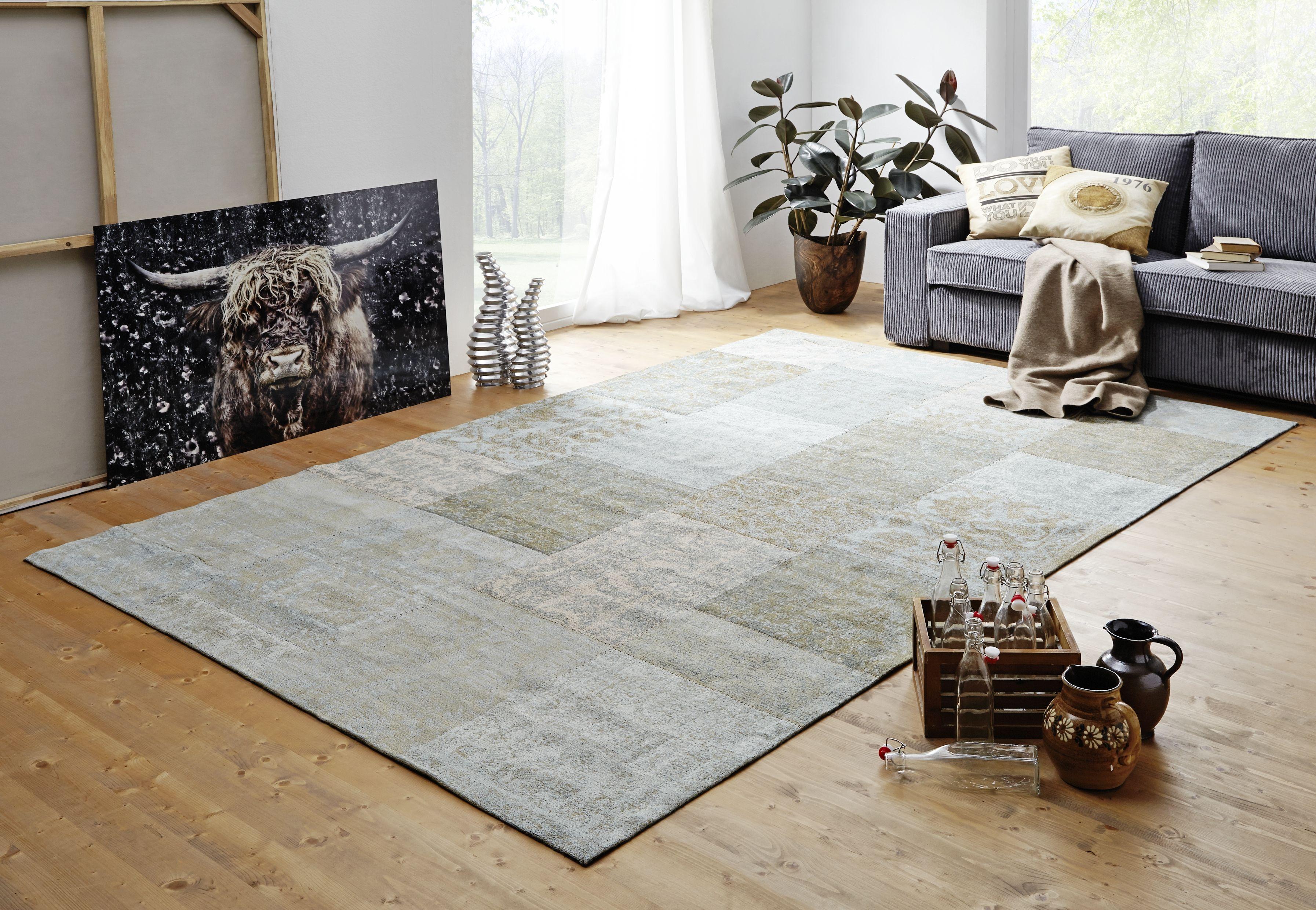 Wohnzimmer Teppich ~ Teppich mit orientalischen mustern und modernem touch herrlich