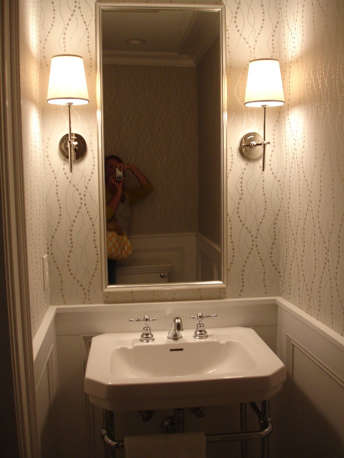 Powder Room Nice Wallpaper