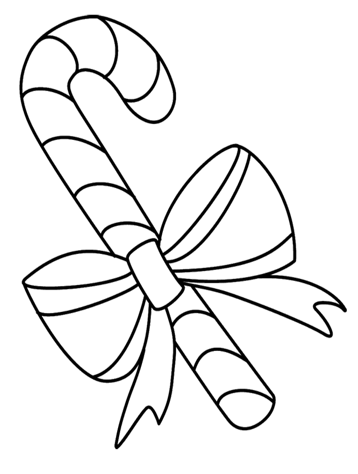 Pictures Color Candy Cane Coloring Pages