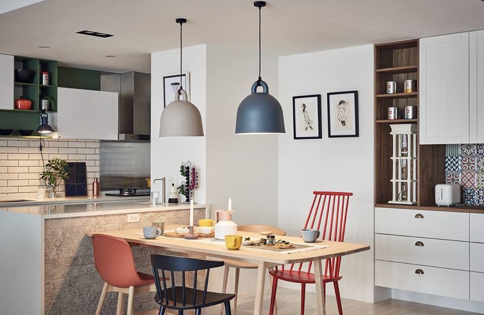 Nordic decor inspiration in two colorful homes design sticker