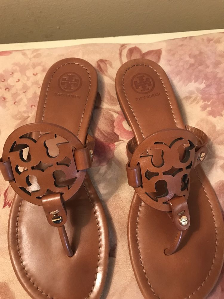 13c698d441add4 Tory Burch Brown Leather Miller Sandal  fashion  clothing  shoes   accessories  womensshoes  sandals (ebay link)