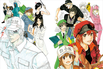 Manga Review Cells at Work Anime, Anime titles, Anime shows
