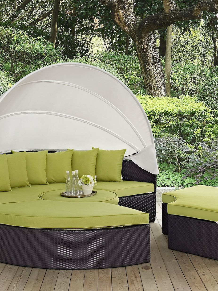 Modway Outdoor Convene Canopy Outdoor Patio Daybed Set (4 PC)