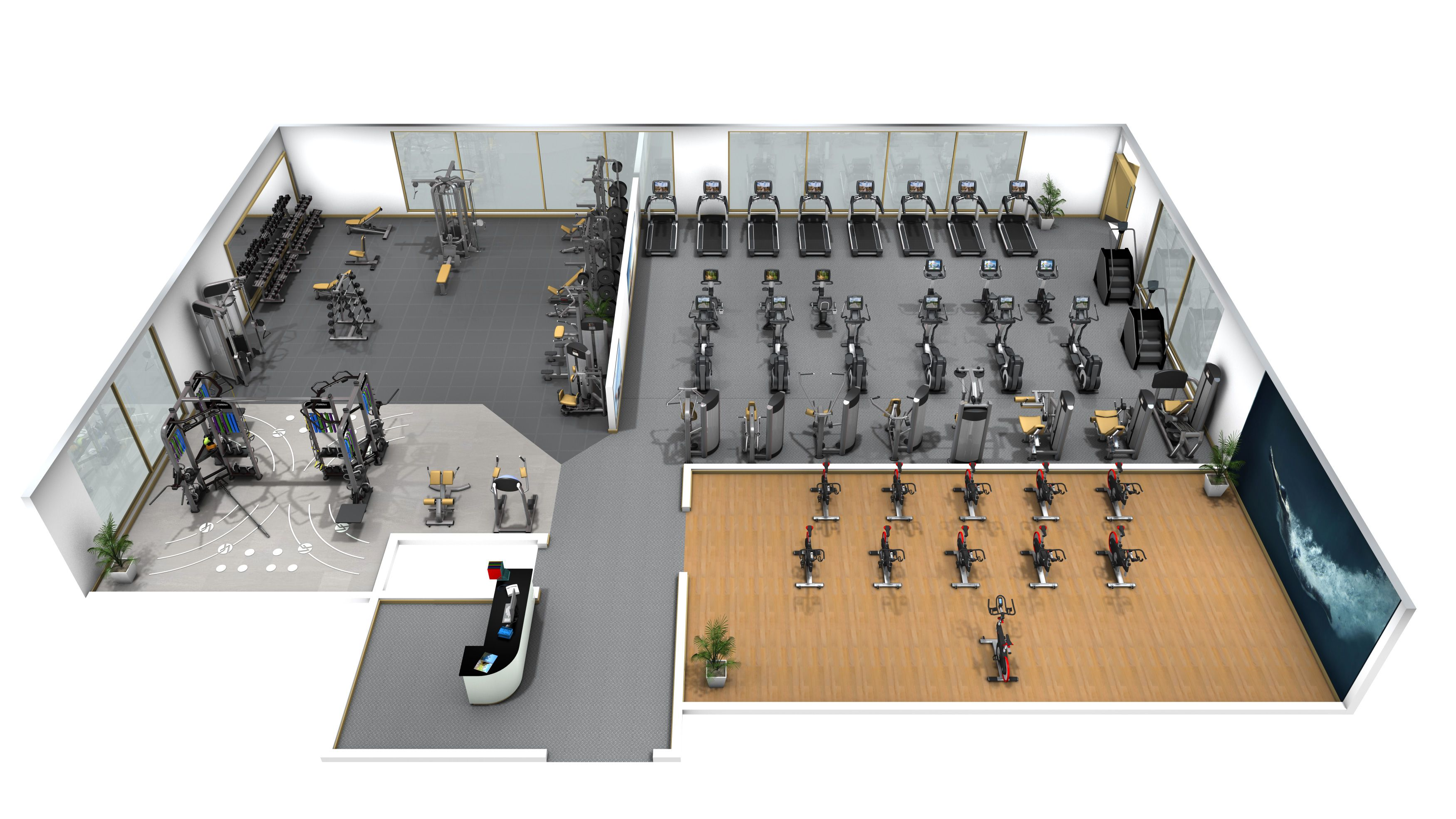 Didyouknow advanced exercise equipment also offers layout for 3000 sq ft gym layout