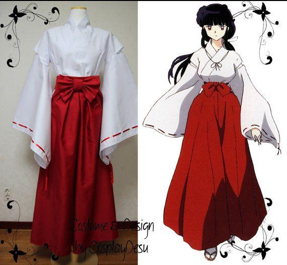 Kikyo traditional cosplay outfit from Inuyasha