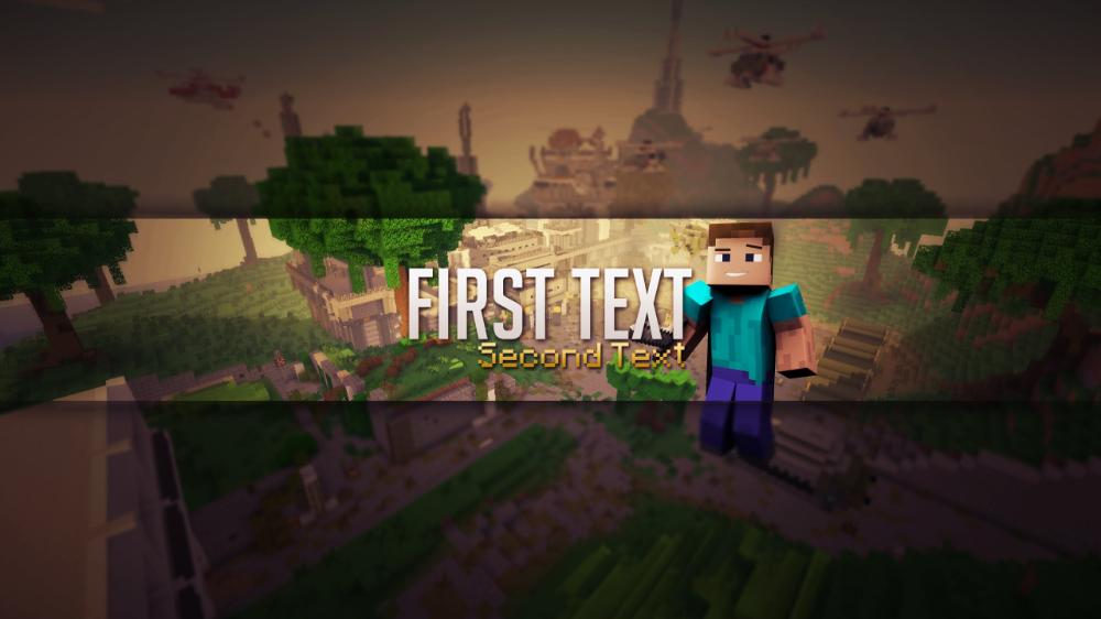 Minecraft YouTube Banner 2560X1440 Шаблон баннера