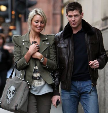 Alex Curran and Steven Gerrard.....once upon a time, i hated her with all the torment of an adolescent. now all i see is a beautiful couple :)