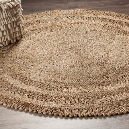Lr Home Natural Jute Hand Braided Dandelion Daydre