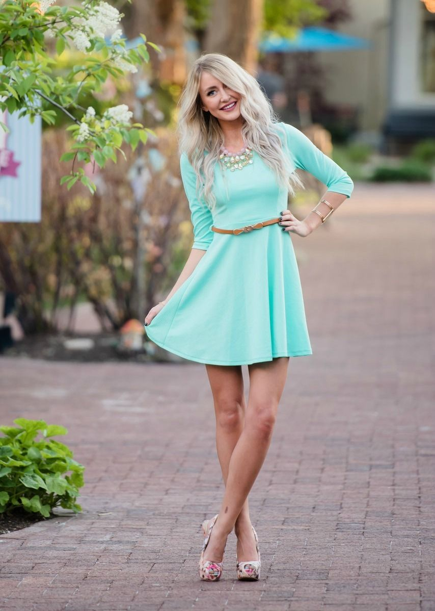8e006b5d11 Mommy Summer Dress in Mint With Brown Belt CLEARANCE. Mommy And Me DressesGirls  ...