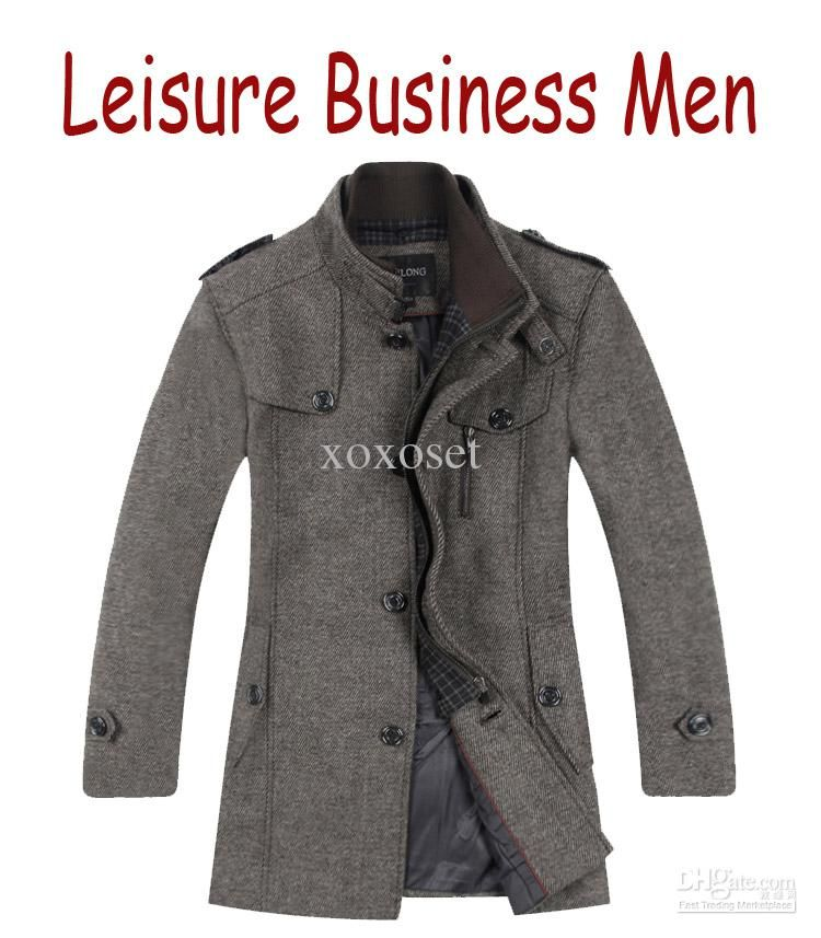 Business Casual Mens Coats The New Wool Coats Single-breasted Mens ...