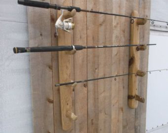 Aspen Mountain Log Cabin Fishing Rod & Reel di RusticLogDecor