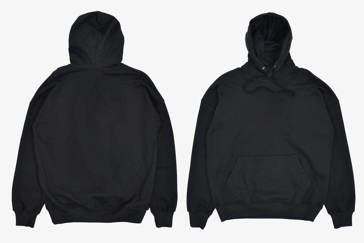 Download Realistic Blank Black Hoodie Mockup Hoodie Jaket Pakaian Pria
