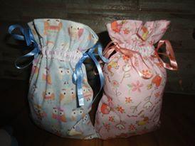 fiz essas sacolinhas para a festa de aniversário da minha filha, tema corujas e pássaros,   uma maneira de aproveitar o saquinho.