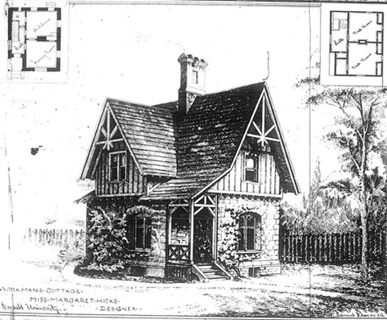 Carpenter gothic cottage google search carpenter for Gothic cottage plans