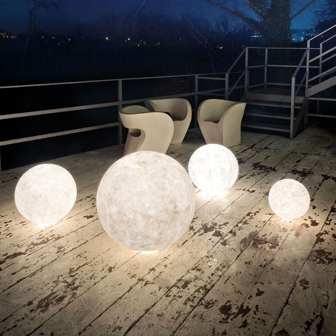Amazing Floor Lamp / Contemporary / Outdoor / In Nebulite® LUNA : EX MOON In
