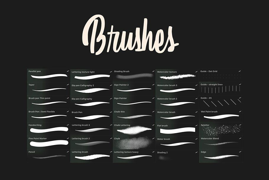 Download Ad: Procreate Lettering Starter Pack by LePunktNoir on ...