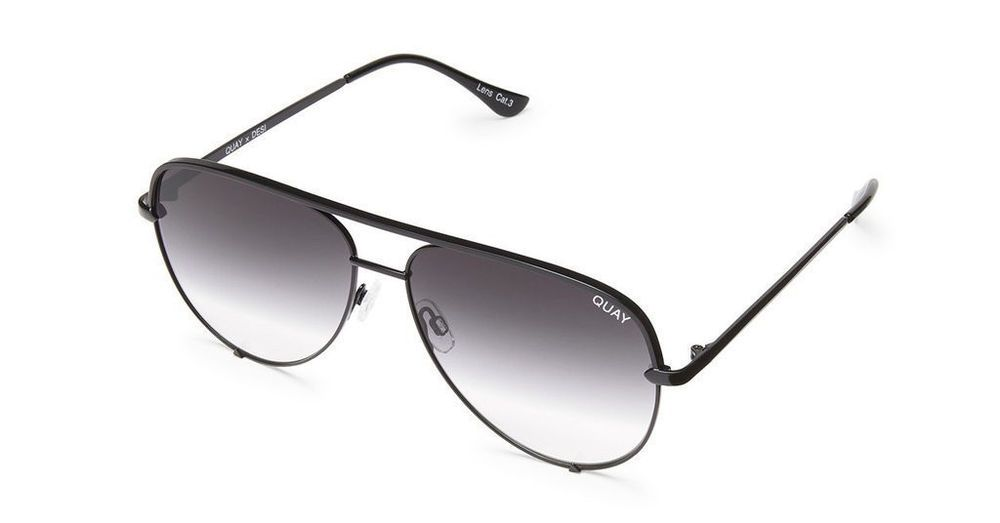aa1881e978dee Quay Desi Perkins High Key Mini Black Sunglasses   Fade Lenses  9343963015386  fashion  clothing