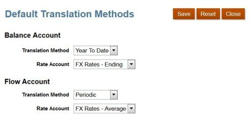 FCCS Account Types and Translation Accounting