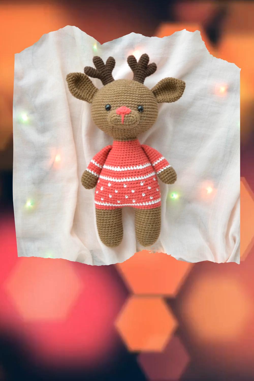 Photo of Amigurumi crochet pattern christmas deer