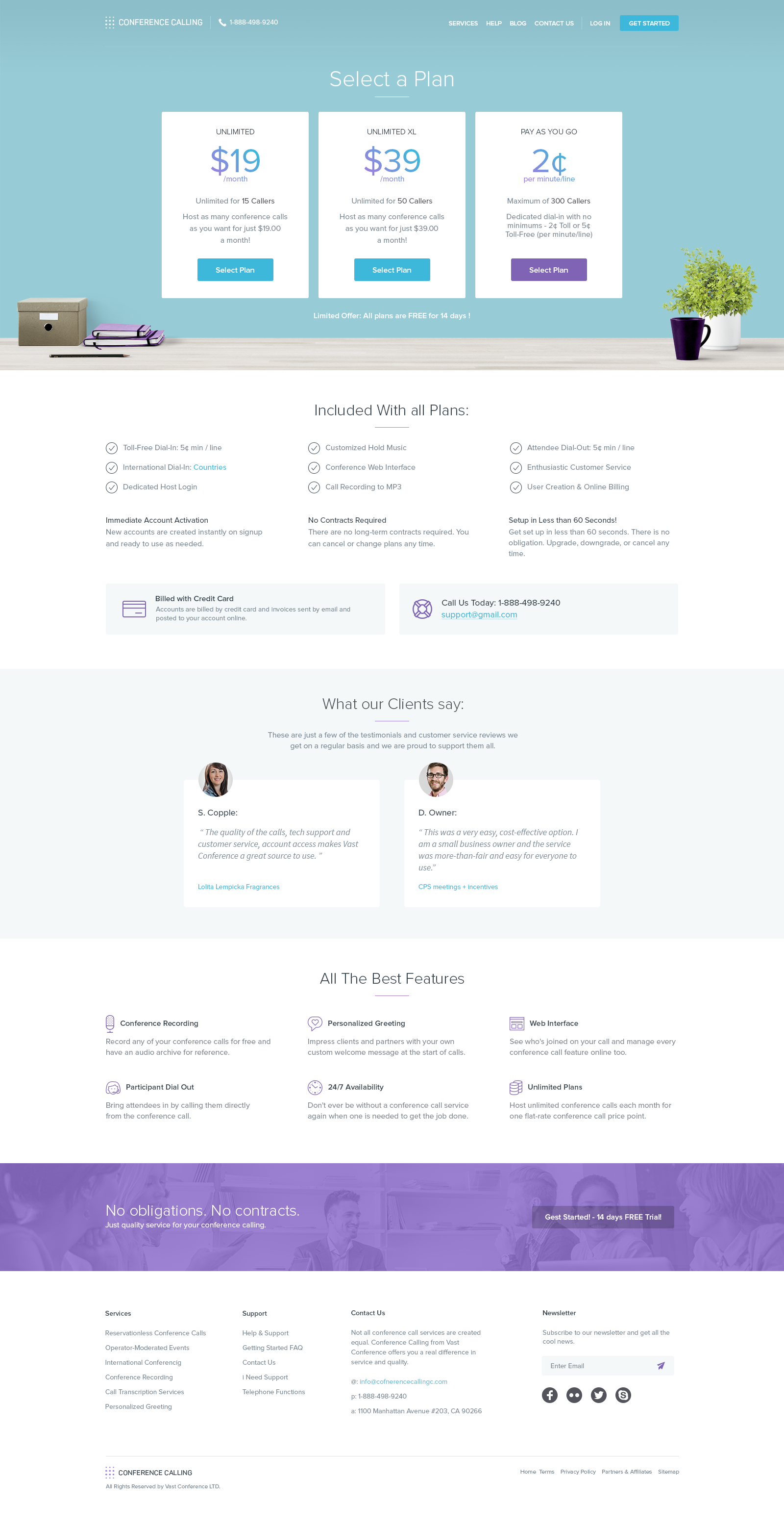 Simple Pricing Page For Conference Calling Web Design Pricing Web Design Quotes Web Design
