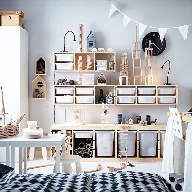 A very organized playroom. Ikea hacks for your kids playroom ...