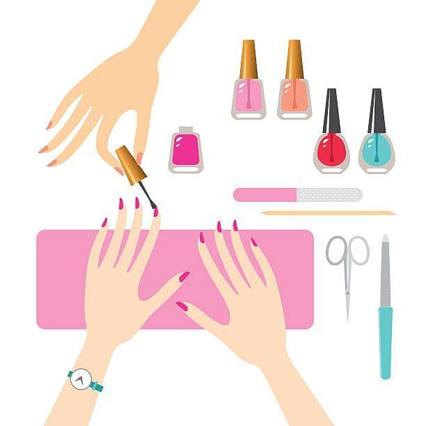 Manicure Vector Art Illustration Nails Pinterest Vector Art