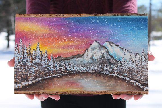 Boho Abstract Watercolor Woodburning Pyrography Art