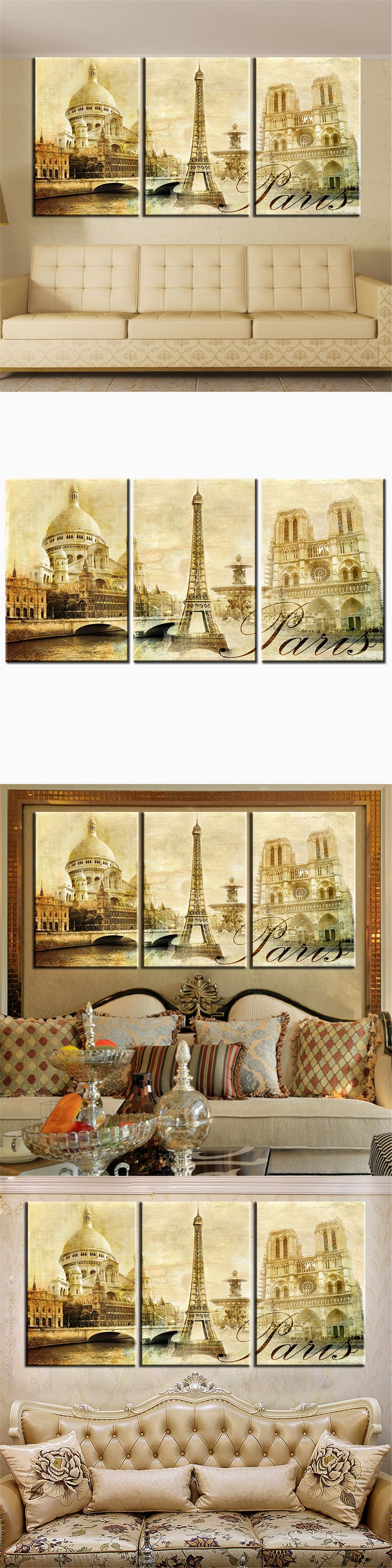 HD Print Canvas Painting Love In Paris Unframed Oil Painting Modern ...