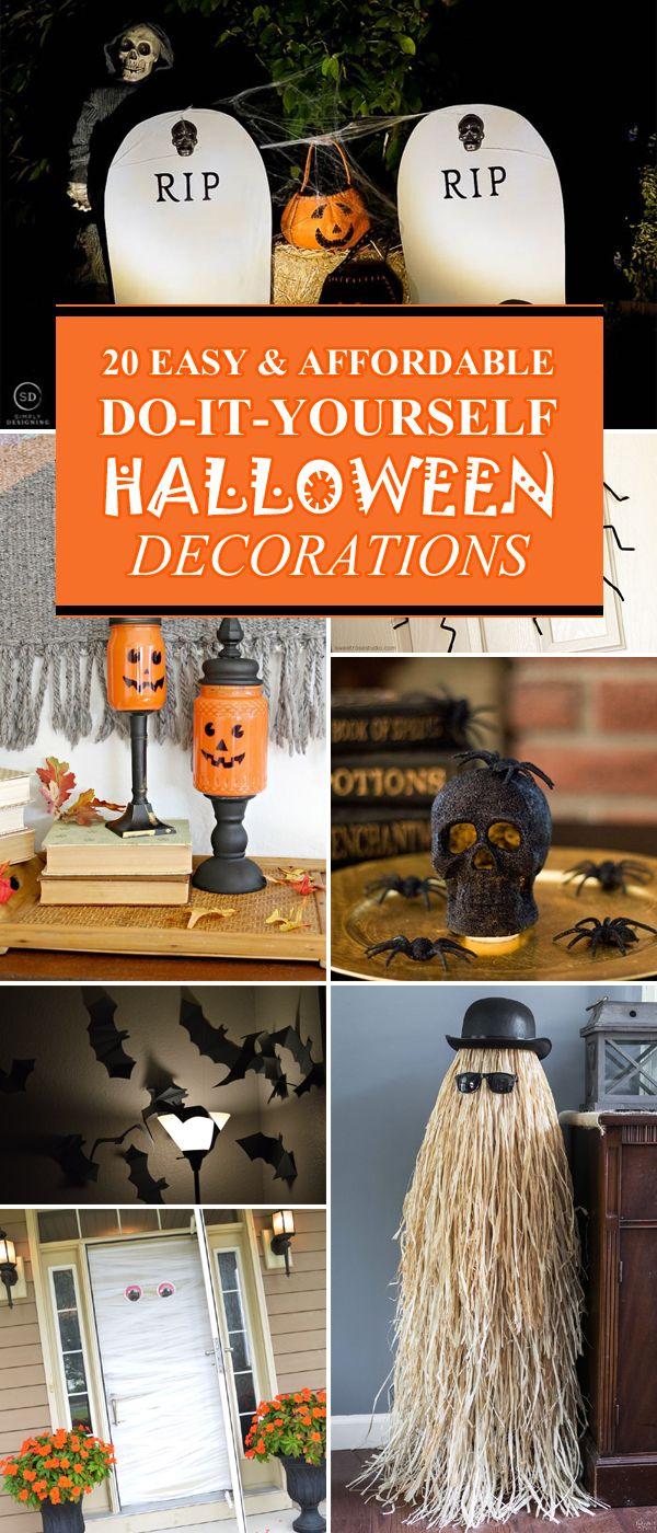 20 Easy Affordable Diy Halloween Decorations Diy Halloween Decorations Fun Diy Halloween Decorations Cheap Halloween Decorations
