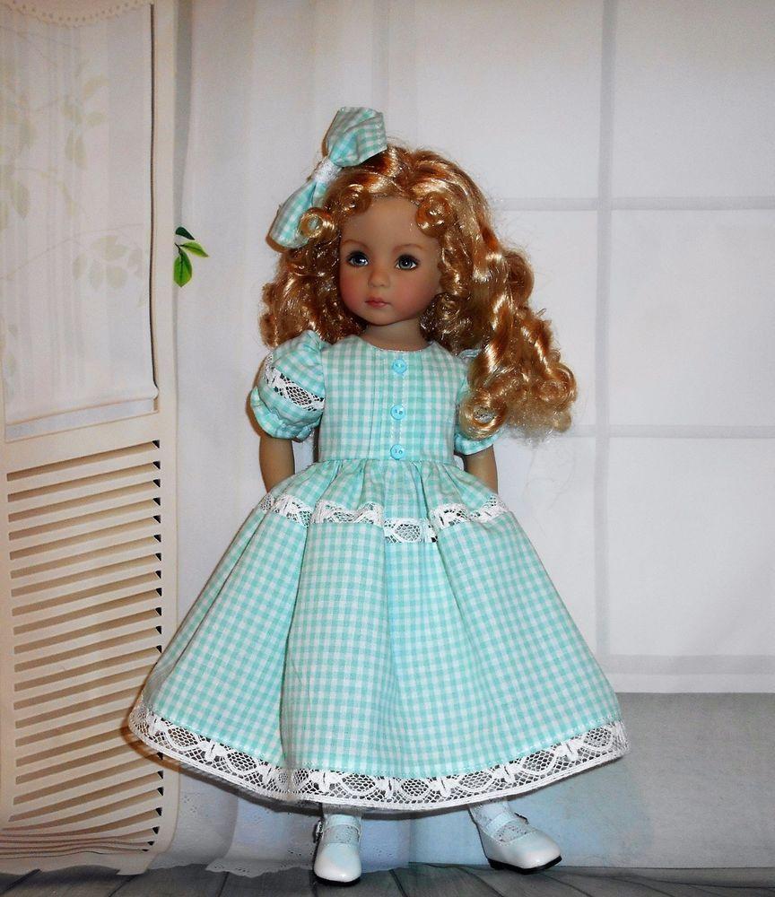 Handmade dress u hair bow compatible with dianna effner little
