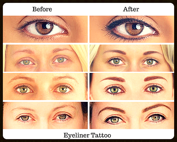 Eyeliner Tattoo before and after Tattoo Cosmetics