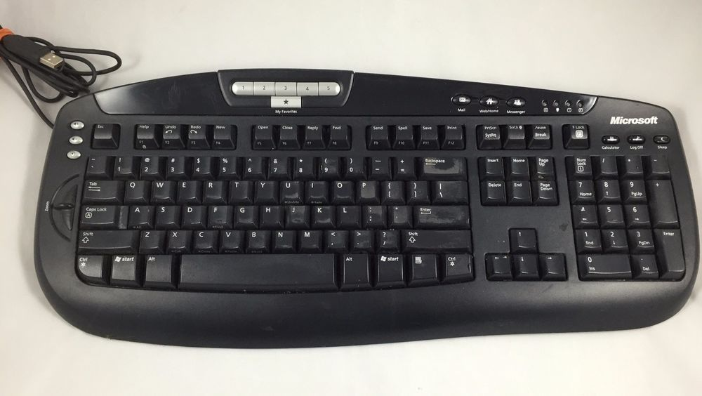 ef4f8f680fd Microsoft Digital Media Computer Keyboard model 1031 Tested Working Missing  Leg #Microsoft